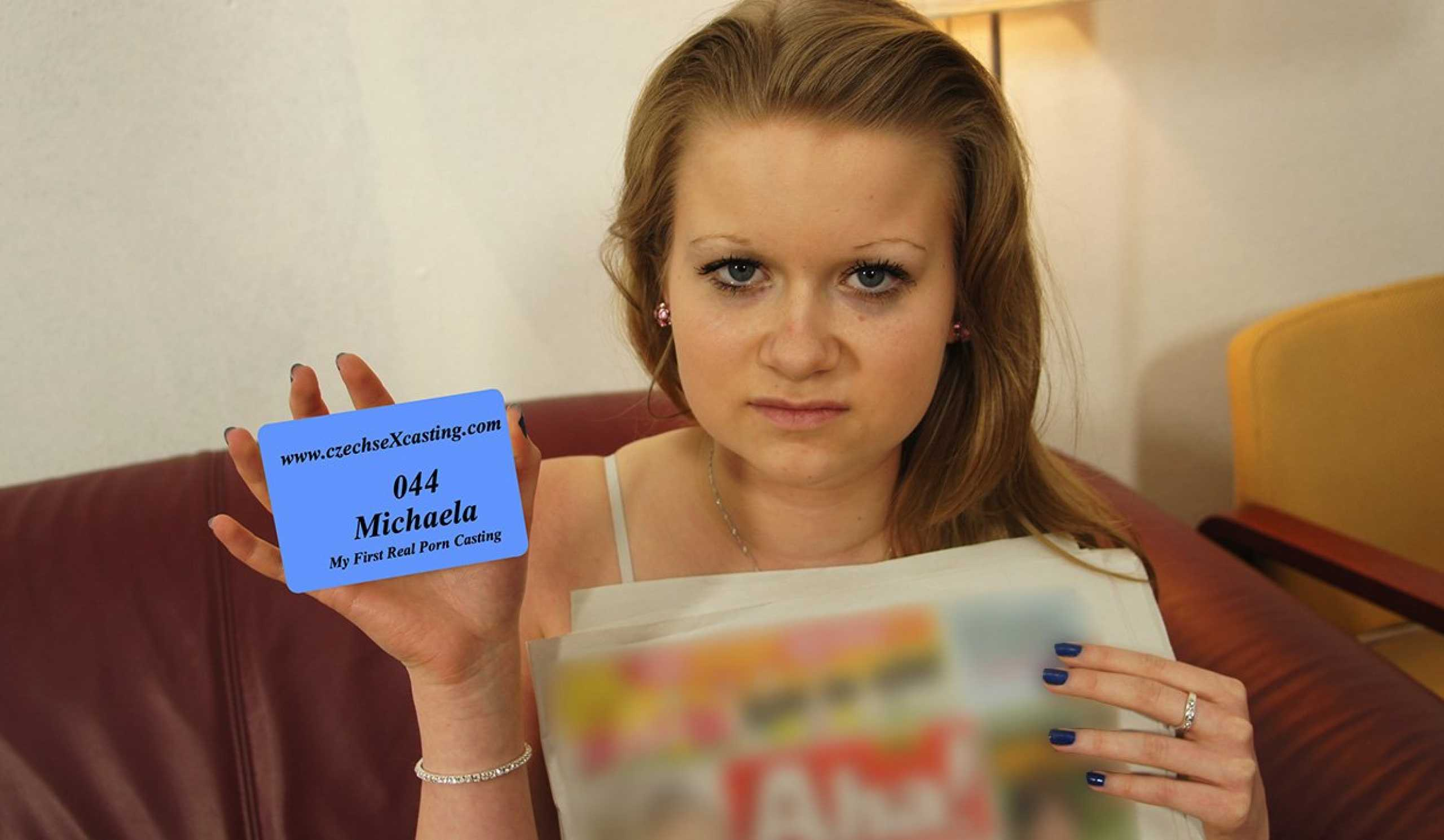 Michaela's first porn casting